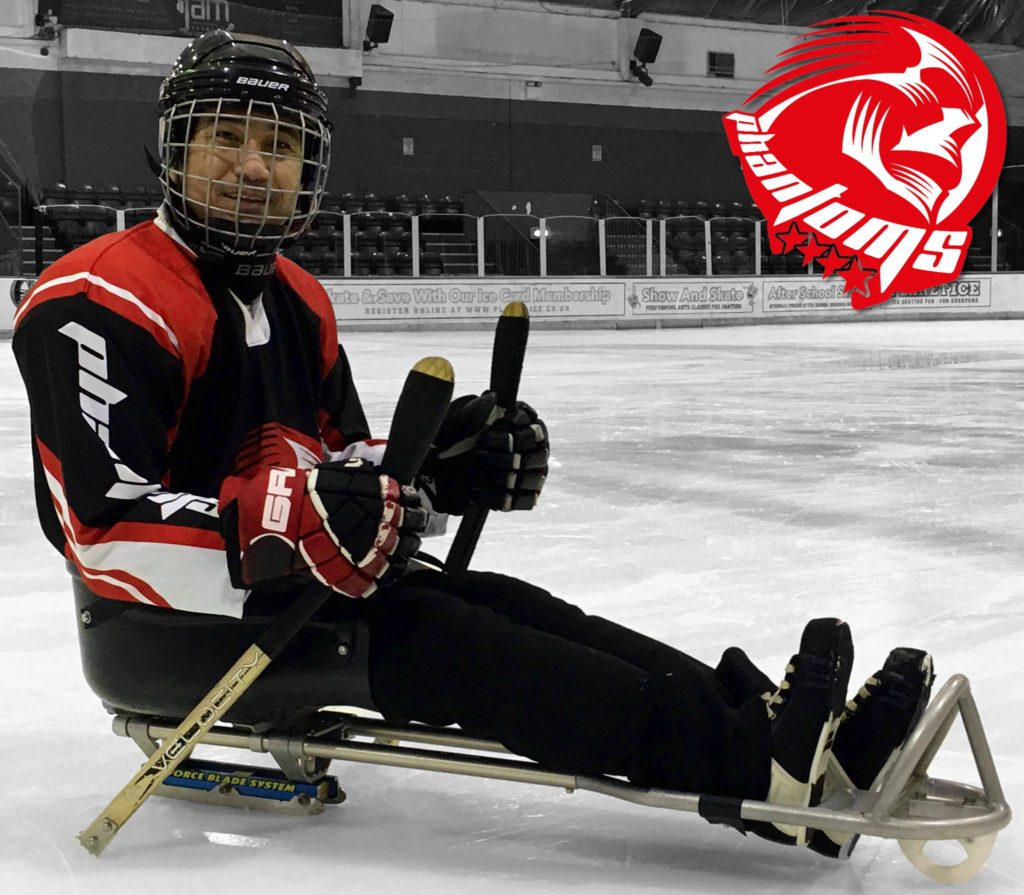 Ali with his new sledge